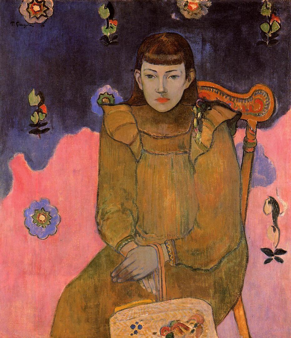 Portrait Of A Young Woman Vaite (Jeanne) Goupil - Paul Gauguin , 1896
